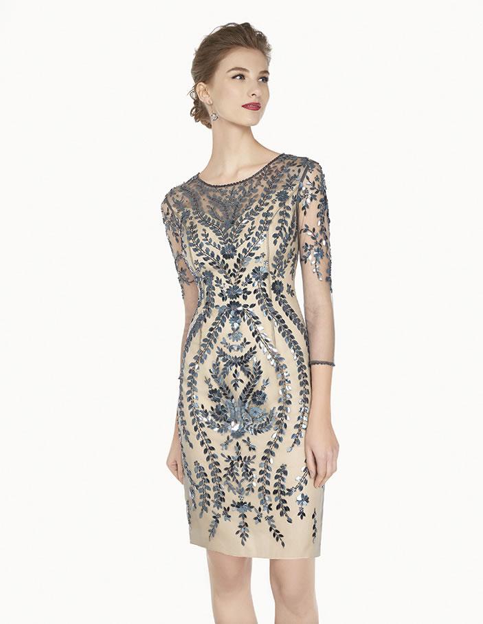 8G202 vestido de fiesta Couture Club 2015