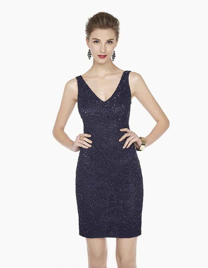 8G205 vestido de fiesta Couture Club 2015