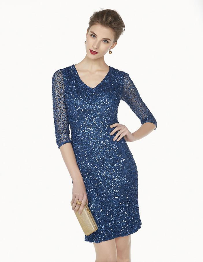 8G209 vestido de fiesta Couture Club 2015
