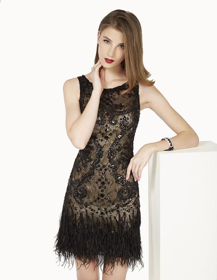 8G225 vestido de fiesta Couture Club 2015