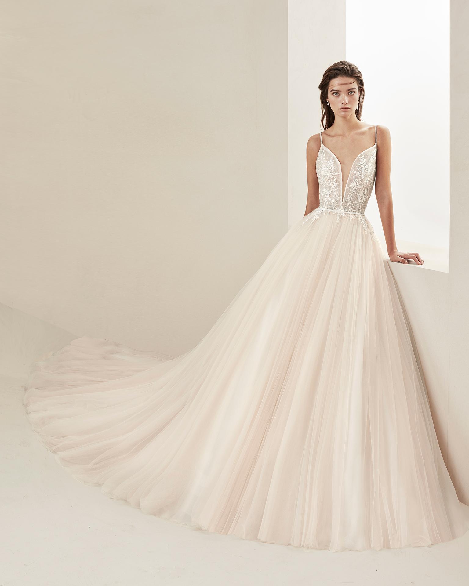 Vestidos de novia encaje y tul